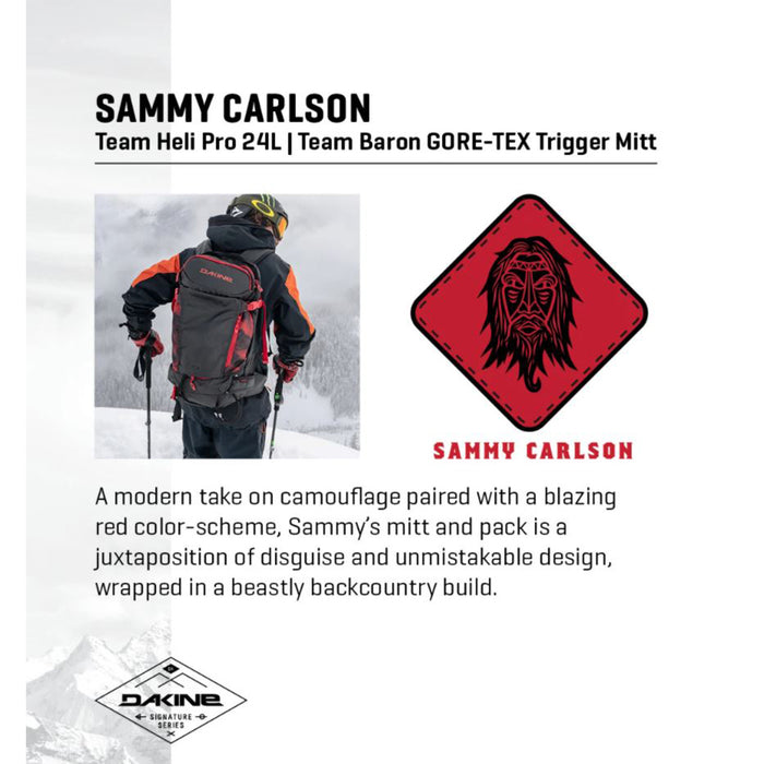 Dakine Team Heli Pro 24L Backpack (Sammy Carlson Camo)