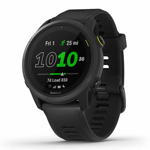 Garmin Forerunner 745 GPS Running Smartwatch - Black - Right Angle