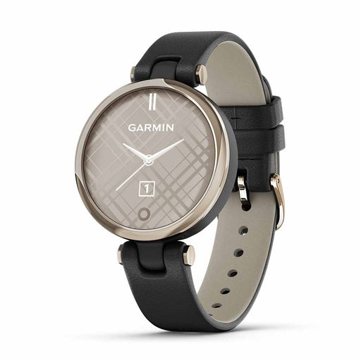 Garmin Lily Classic Women's Small Fitness Smartwatch - Cream Gold Bezel/Black - Used - Right Angle
