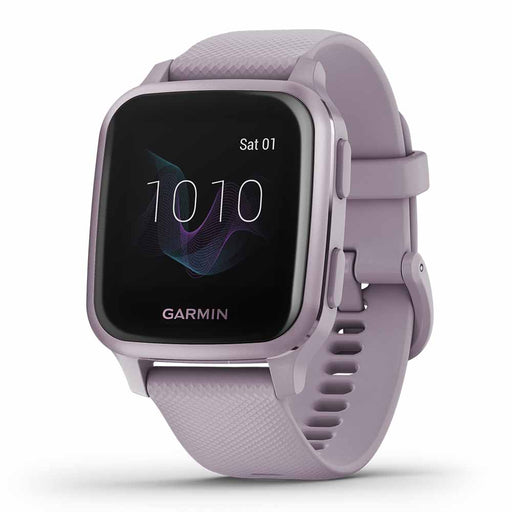 Garmin Venu Sq Fitness Tracker Watch - Metallic Orchid - Used - Right Angle