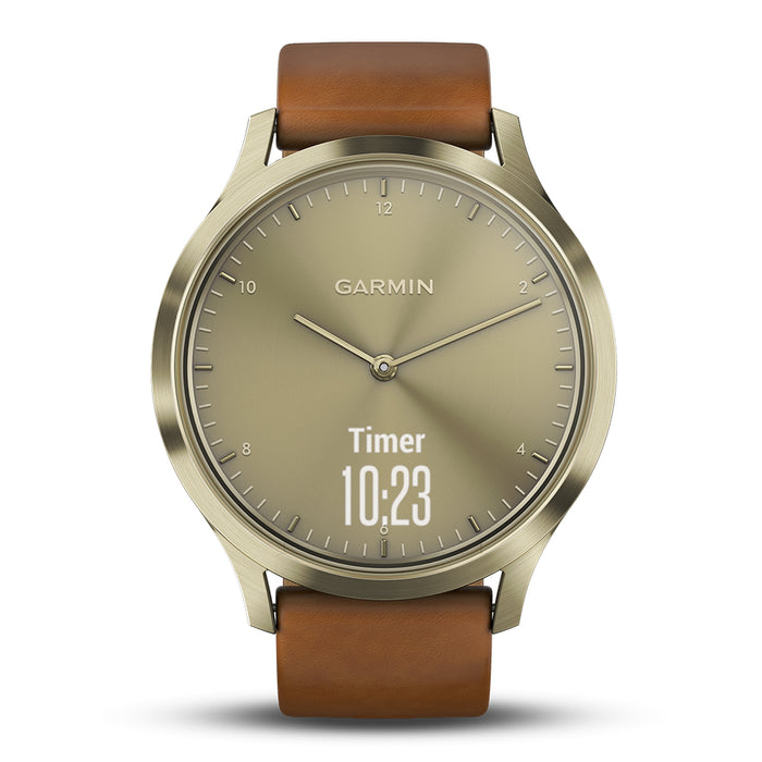 #color_vivomove HR Premium (Light Gold Stainless/Light Brown Leather)