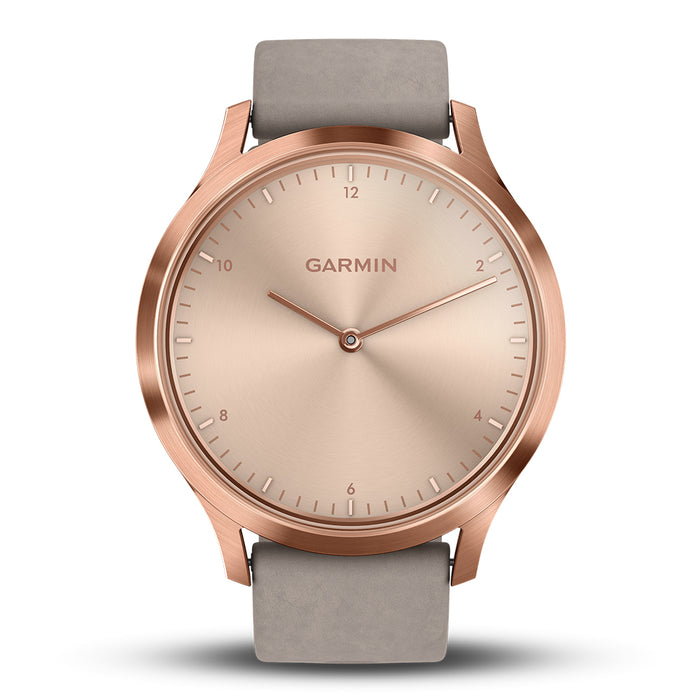 #color_vivomove HR Premium (Rose Gold/Gray Suede)