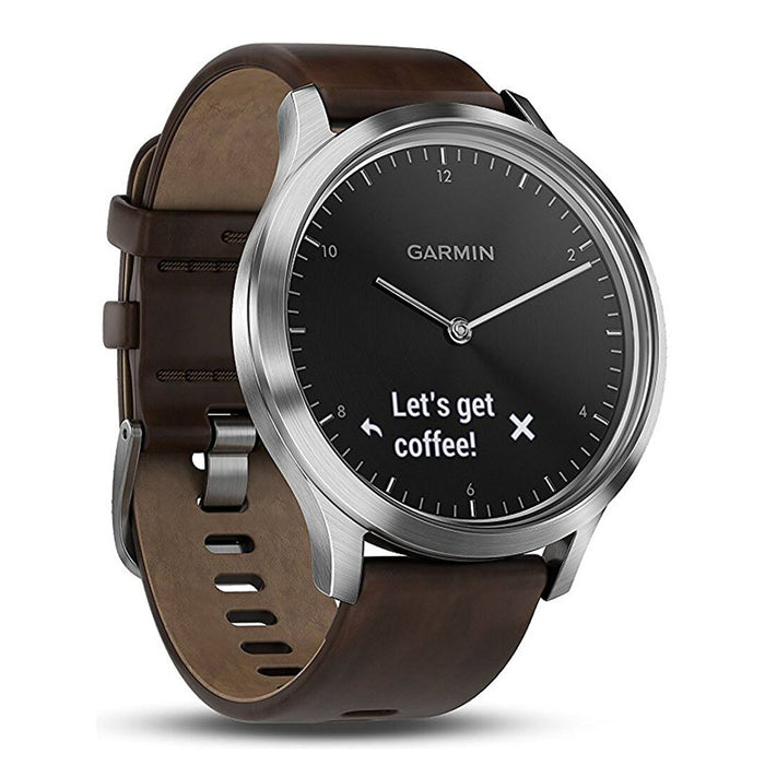 #color_vivomove HR Premium (Silver/Dark Brown Leather)