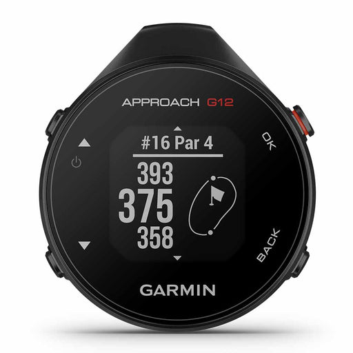 Garmin Approach G12 Handheld Small Golf GPS - Black - Front Angle