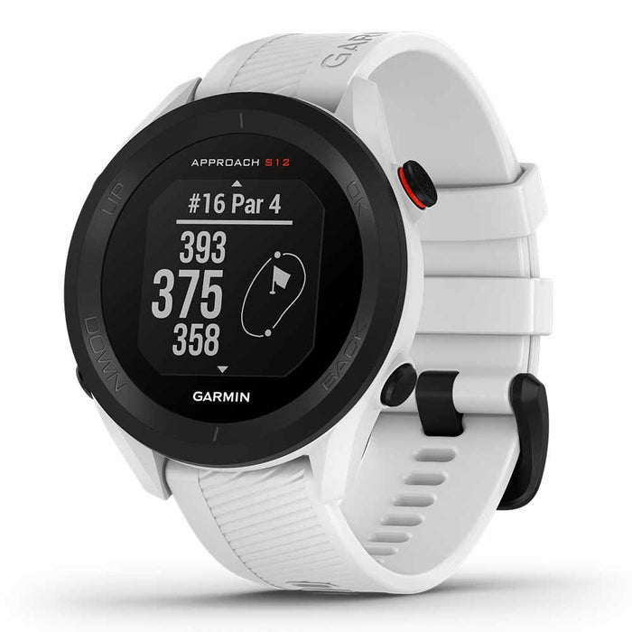 Garmin Approach S12 Golf Watch - White - Right Angle
