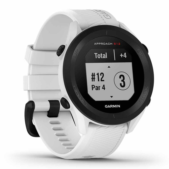 Garmin Approach S12 Golf Watch - White - Left Angle