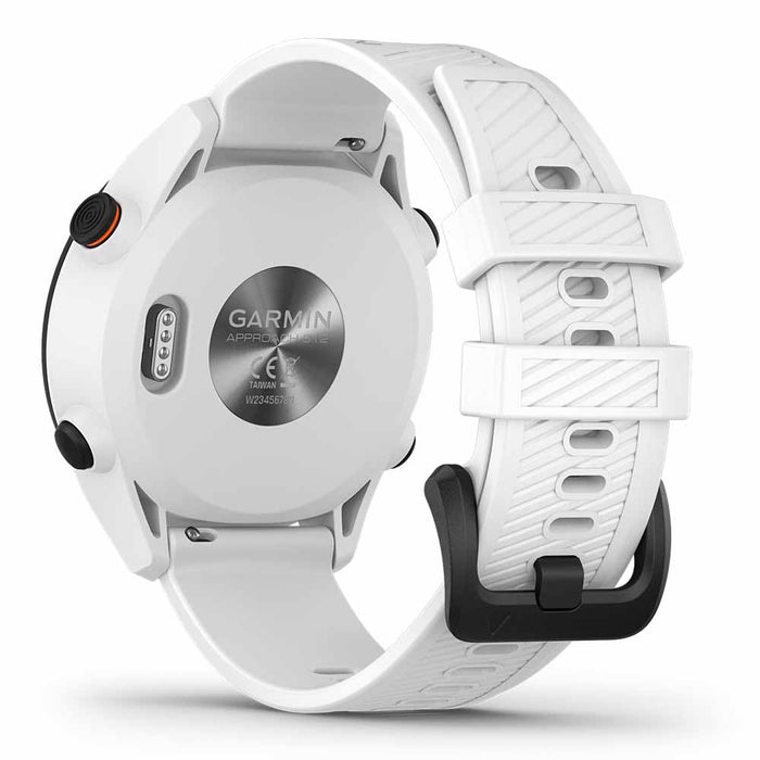 Garmin Approach S12 Golf Watch - White - Back Angle