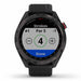 Garmin Approach S42 Golf GPS Watch - Gunmetal with Black Band - Front Angle