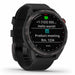 Garmin Approach S42 Golf GPS Watch - Gunmetal with Black Band - Left Angle