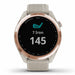 Garmin Approach S42 Golf GPS Watch - Rose Gold with Light Sand Band - Front Angle
