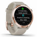 Garmin Approach S42 Golf GPS Watch - Rose Gold with Light Sand Band - Left Angle