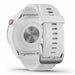 Garmin Approach S42 Golf GPS Watch - Polished Silver with White Band - Back Angle