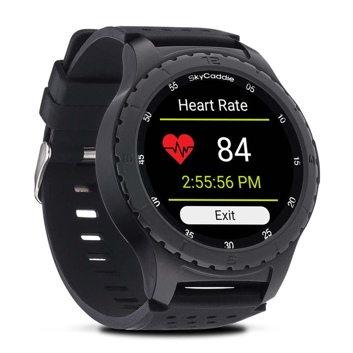SkyCaddie LX5 Golf GPS Smartwatch measuring wrist-based heart rate