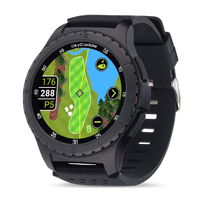 SkyCaddie LX5 Golf GPS Smartwatch with Green View and Maps‎ - Open Box‎ - Front Angle