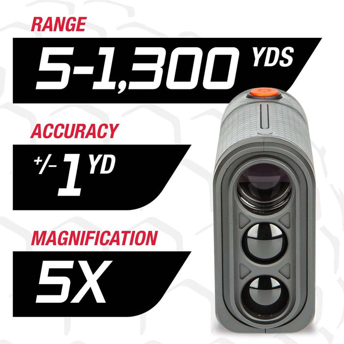 Tasco T2G Golf Laser Rangefinder - 5-1300 Yards, +/- 1 Yard Accuracy, 5X Magnification - Used