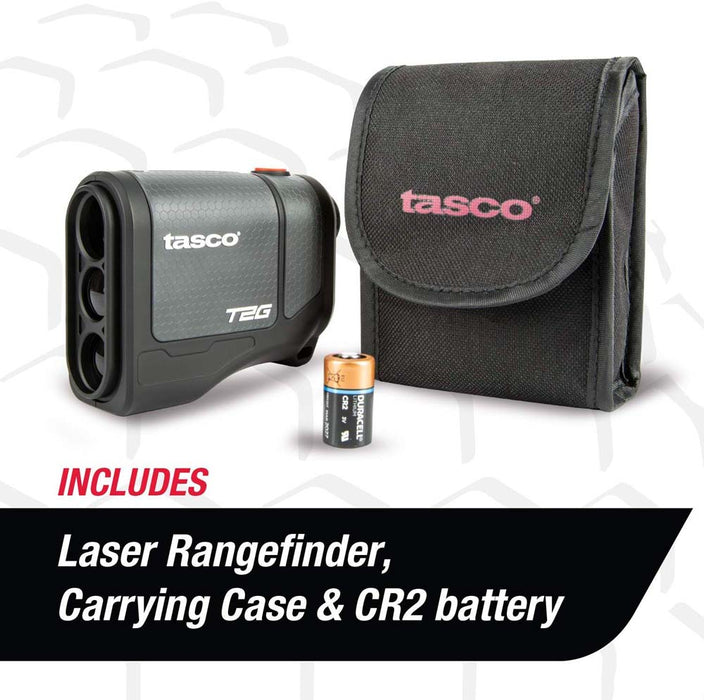 Tasco T2G Golf Laser Rangefinder with Carrying Case and CR2 Battery - Used