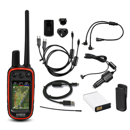 Garmin Alpha 100 GPS Dog Tracker - Handheld Only with Accessories
