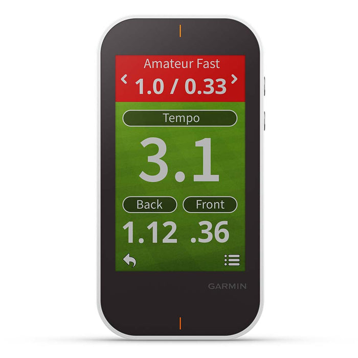Garmin Approach G80 Handheld Golf GPS - Tempo, Back and Front Distances - Front Angle