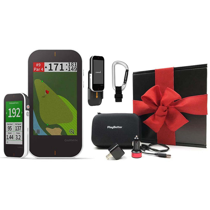Garmin Approach G80 Handheld Golf GPS PlayBetter Gift Box Bundle with Red Bow