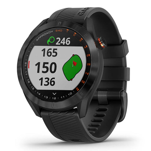 Garmin Approach S40 GPS Golf Smartwatch - Black - Right Angle - Open Box