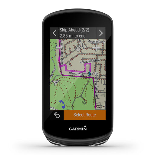 Garmin Edge 1030 Plus GPS Bike Computer - Route Maps - Front Angle