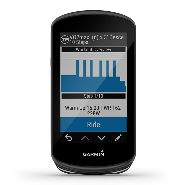 Garmin Edge 1030 Plus GPS Bike Computer - VO2 Max and Workout Overview - Used - Front Angle