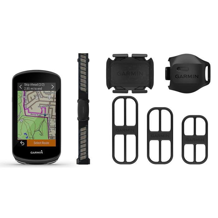 Garmin Edge 1030 Plus GPS Bike Computer Bundle with HRM-Dual, Speed Sensor and Cadence Sensor - Used - Front Angle