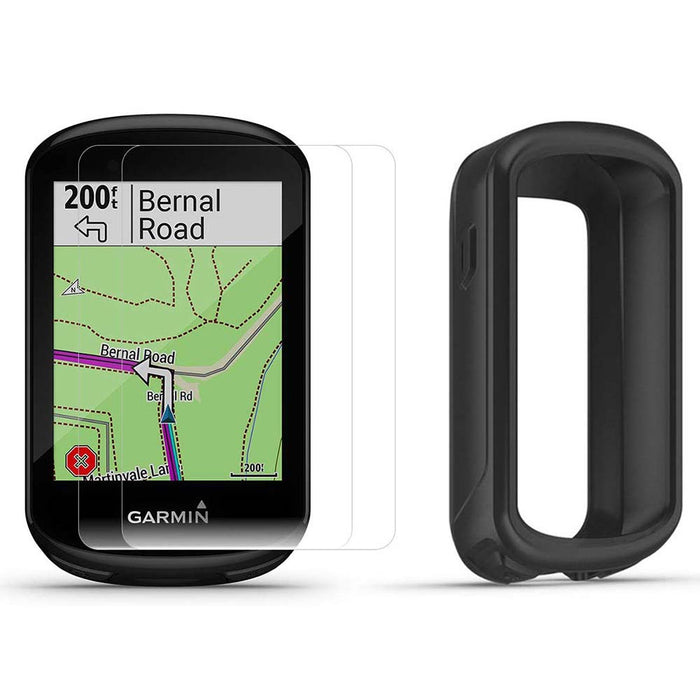 Garmin Edge 830 Touchscreen Bike Computer with PlayBetter Portable Charger and Black Silicone Case