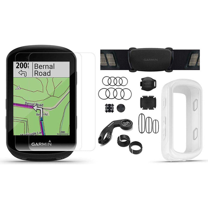 Garmin Edge 830 Touchscreen Bike Computer - Sensor Bundle with PlayBetter Portable Charger and White Silicone Case