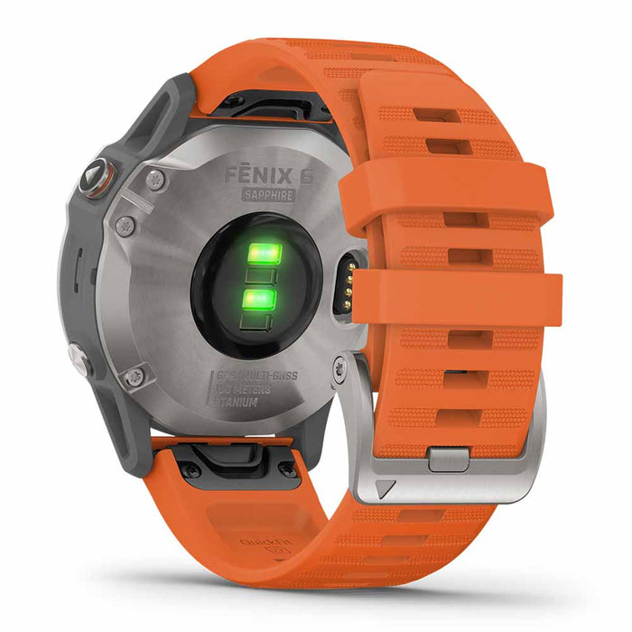 #color_fenix 6 Sapphire (Titanium Gray/Orange)