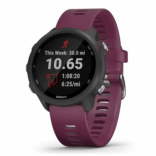 Garmin Forerunner 245 GPS Watch for Running - Berry - Right Angle
