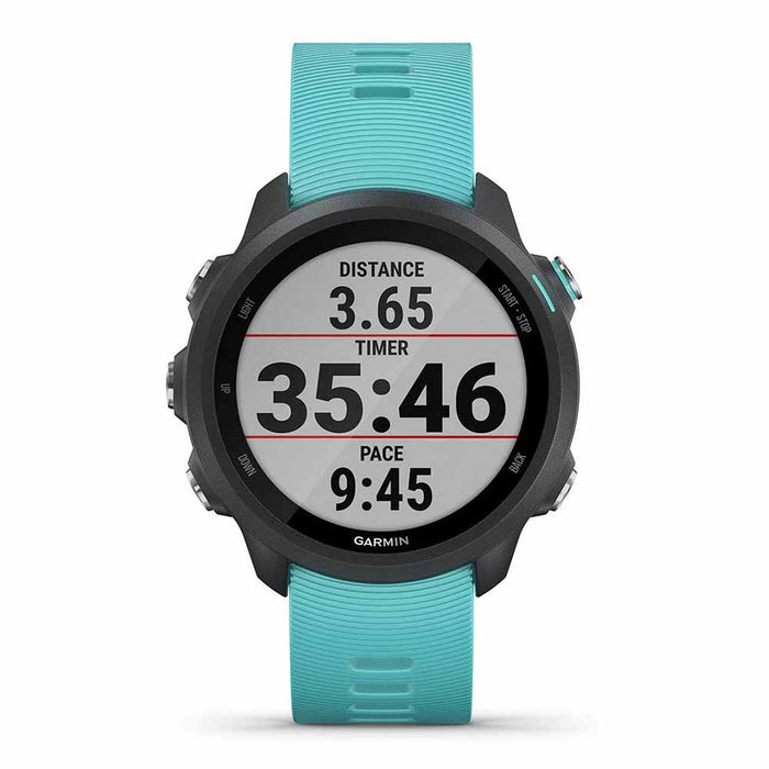 Garmin Forerunner 245 Music GPS Smartwatch for Running - Aqua - Front Angle