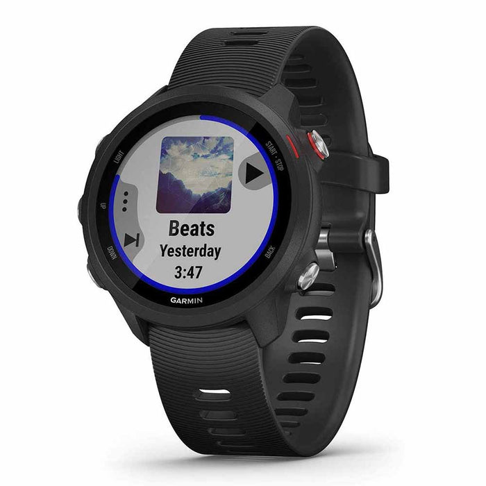 Garmin Forerunner 245 Music GPS Running Smartwatch - Black - Right Angle
