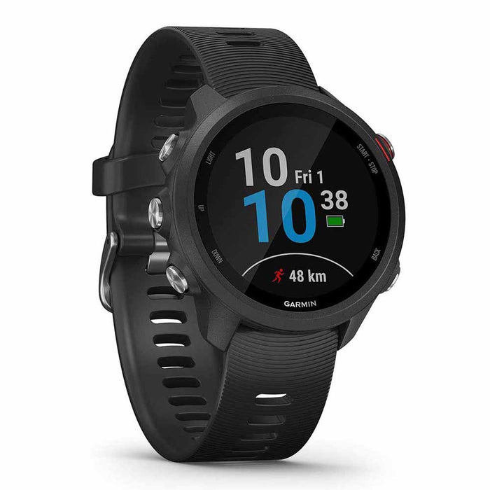 Garmin Forerunner 245 Music GPS Running Smartwatch - Black - Left Angle