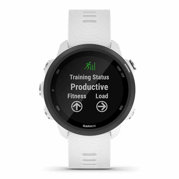 Garmin Forerunner 245 GPS Running Smartwatch with Music - White - Front Angle
