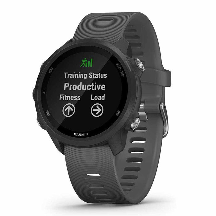 Garmin Forerunner 245 GPS Running Smartwatch - Slate Gray - Right Angle