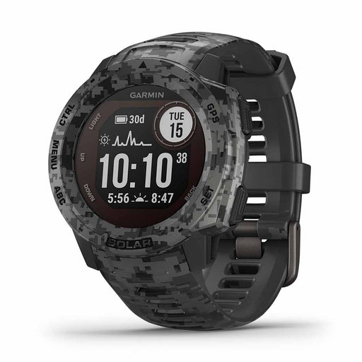 Garmin Instinct Solar Camo Edition GPS Smartwatch - Graphite - Right Angle