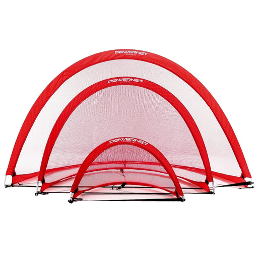 PowerNet Popup Soccer Goals Round Portable Net