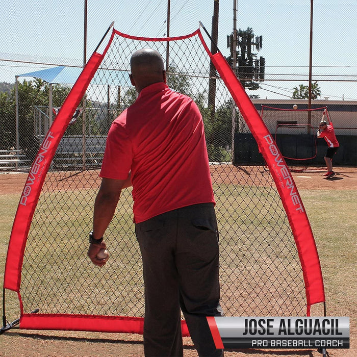 PowerNet 7 x 7 ft. A-Frame Portable Pitching Screen