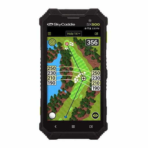 SkyCaddie SX500 Handheld Golf GPS - Black - Open Box‎ - Front Angle