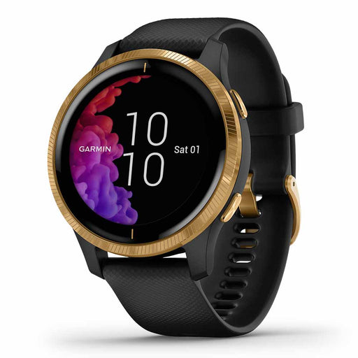 Garmin Venu GPS Fitness Smartwatch - Gold Stainless Steel/Black - Used - Right Angle