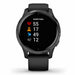 Garmin Venu GPS Sports Smartwatch - Slate Stainless Steel/Black - Used - Front Angle