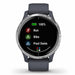 Garmin Venu Workout GPS Smartwatch - Silver Stainless Steel/Granite Blue - Used - Front Angle