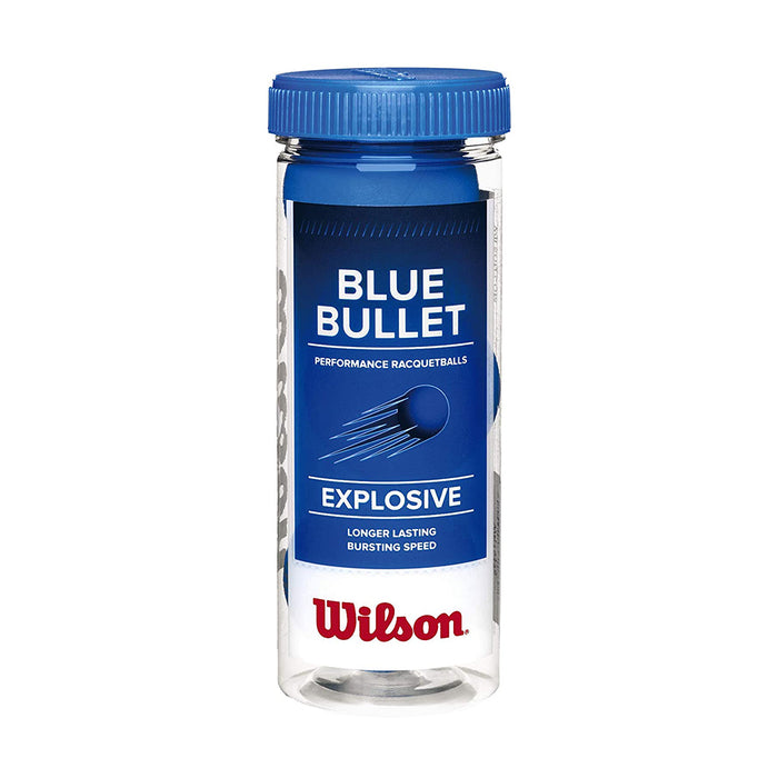 Wilson Blue Bullet Racquetball Balls (3 Ball Can)