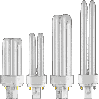 CFL Plugin DOUBLE Twin Tube (2 pin base)