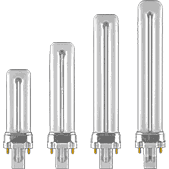 CFL Plugin SINGLE Twin Tube (2 pin base)