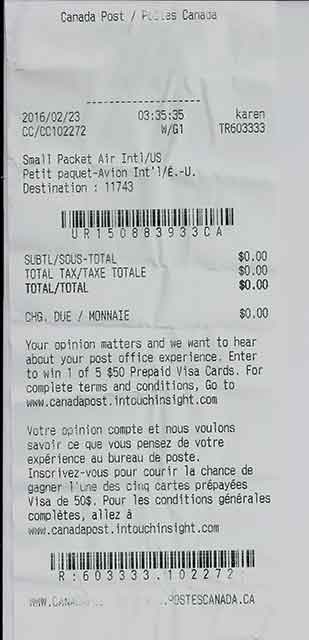 Ecommerce university solutions against claims from customers when canada post small packet receipt aloadofball Gallery