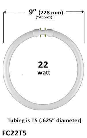 Measurement - CFL Plug In - 22w - T5 Circular/Circline (FC9T5 / FC22T5)