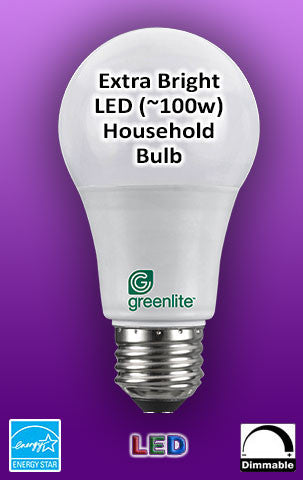 LED 15W (equivalent 100 watt) Dimmable Omni Directional A19 - Energy Star