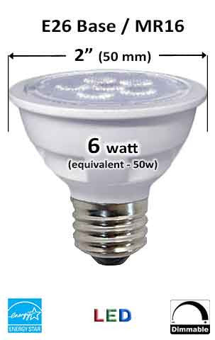 MR16 / HR16 / JDR E26 LED Bulb - Measurement